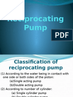 3. Reciprocating Pump
