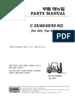 Clark C35K-50KD PARTS MANUAL