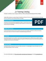 AdobeEdu Professional Development 2014-2015 Training Catalog
