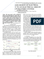 ANALYSIS AND DESIGN OF ELECTRIAL POWER SUPPLY TO AN ELECTRICAL GRID BY USING PV/BATTERY SYSTEM