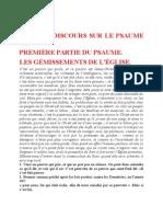 Saint Augustin - Discours sur les psaumes - Ps 101 Les Gémissements de l'Église