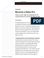 Become a Sales Pro