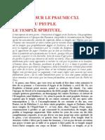Saint Augustin - Discours sur les psaumes - Ps 111 Le Temple Spirituel