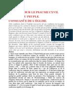 Saint Augustin - Discours sur les psaumes - Ps 117 Constance de l'Église