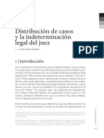 Distribución de Casos La Indeterminación Legal Del Juez