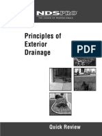 Principles of Exterior Drainage Quick Review
