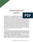Study Analysis of Marketing Strategy Competition - Liquor Liberalization