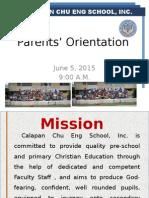 Parents' Orientation 2015
