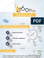 360Plus for SAP BusinessObjects back up and promotion