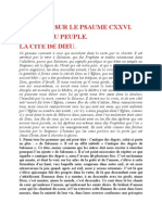 Saint Augustin - Discours sur les psaumes - Ps 126 La Cité de Dieu