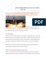 About Navigational Satellite IRNSS-1C and Its PSLV-C26