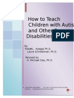 How to Teach Children With Autism and Other Severe Disabilities