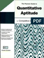 The Pearson Guide to Quantitative Aptitude for Competitive Examination