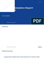 Cluster Optimization Report W100 01102015