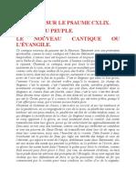 Saint Augustin - Discours sur les psaumes - Ps 149 Le Nouveau Cantique Ou l'Évangile
