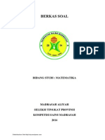 Soal Ksm Matematika Ma Tingkat Provinsi 2014