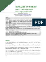 Thomas d'Aquin les 80 opuscules - 06- Commentaire Du Credo