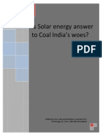 Coal India and Solar Energy