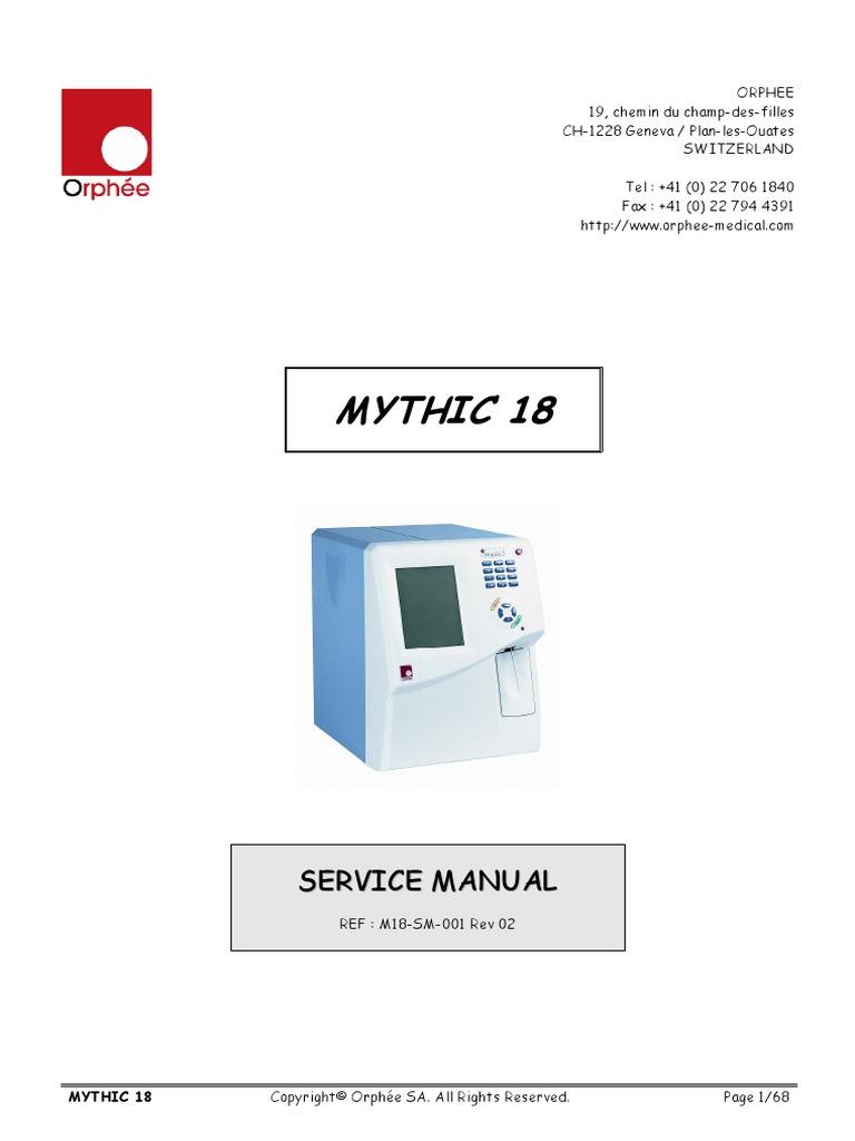 Orphee Mythic 18 Analyzer - Service Manual | Electromagnetic Compatibility  | Radio