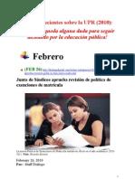 Noticias Recientes Sobre La UPR (Febrero 26- Marzo 19 2010)