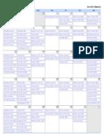 Calendario Series Octubre