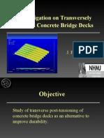 An Investigation on Transversely Prestressed Concrete Bridge Decks (1)