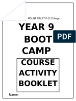 boot camp student booklet