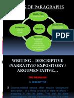 WRITING – DESCRIPTIVE