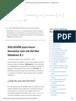 Hacer Funcionar Una Red Ad Hoc Windows 8.1 y 7