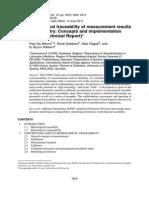 Rastreabilidade Metrologica IUPAC