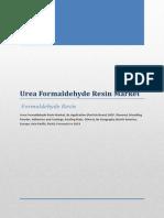 Urea Formaldehyde Resin Market