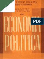 Academia de Ciencias de La URSS Manual de Economia Politica