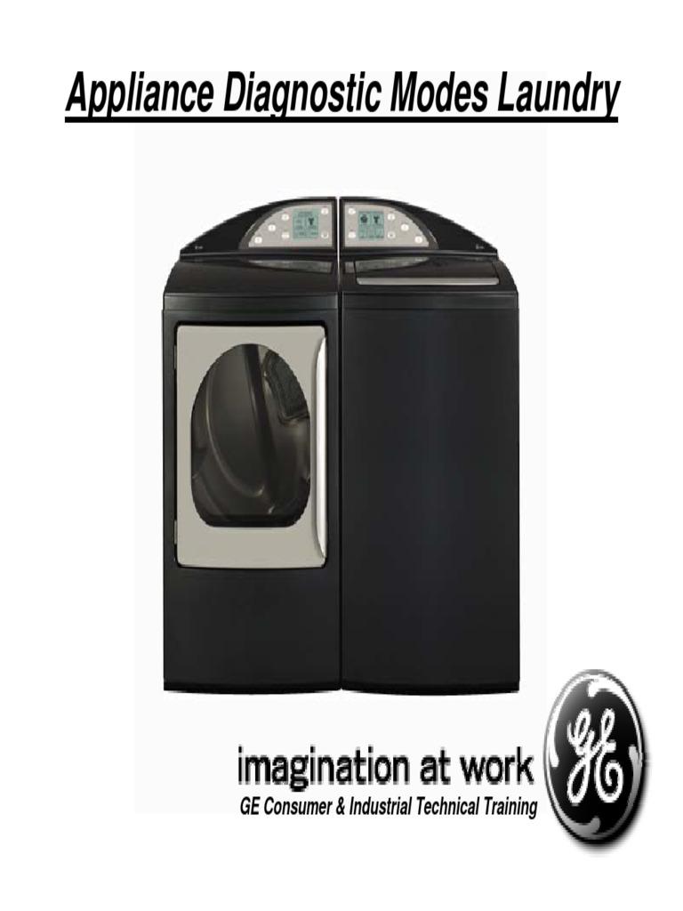 Ge Laundry Diagnostic Modes | General Electric | Trade Secret
