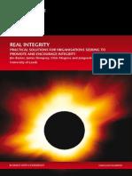 Real Integrity Full Report
