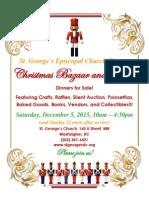 St George's Episcopal Church Christmas Bazaar 2015 12 05