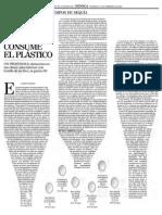 El agua que consume el plastico