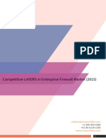 Competitive LAYERS in Enterprise Firewall Market (2015) Layer