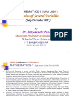 Multi Variable Calculus
