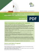 MERS Rapid Risk Assessment Update October 2015
