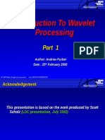 Intro Wavelet Processing 1