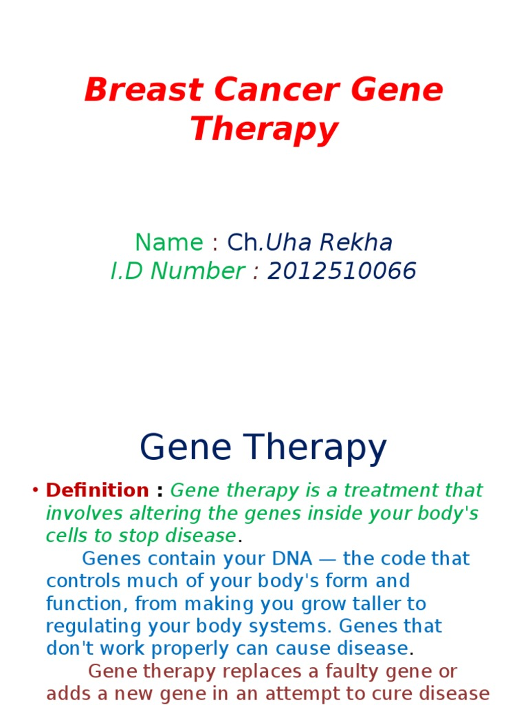 breast cancer gene therapy 1 | breast cancer | mammography