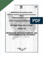Tierras Con Aptitud Forestal Del Departamento de Apurimac