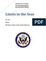 China's Maritime Claims in the South China Sea