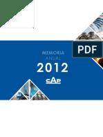 Cap Memoria Anual 2012
