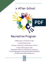 Apex After-School Program Poster