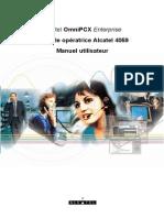 Console Opératrice Alcatel 4059 - Manuel Utilisateur