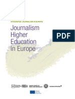 Journalism Higher Education in Europe DBbookJANUARY