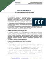 Memoria Descriptiva, Comunicaciones - DROKASA