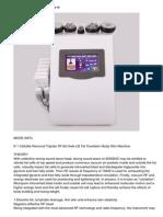 6-1 Cellulite Removal Tripolar Rf Hot Sale Lllt Fat Cavitation Body Slim Machine