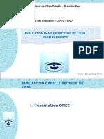 Présentation - évaluation dans le secteur d'eau